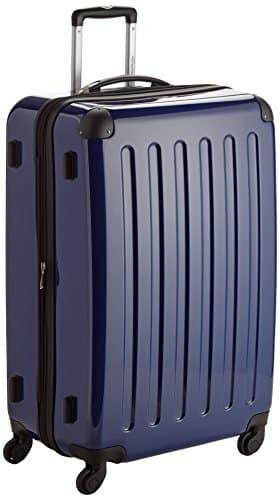 HAUPTSTADTKOFFER - Alex - Hartschalen-Koffer Koffer Trolley Rollkoffer Reisekoffer Erweiterbar, 4 Rollen, 75 cm, 119 Liter, Dunkelblau