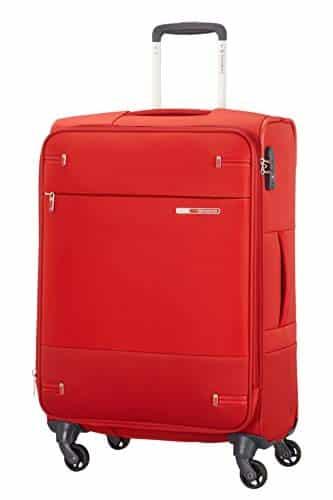 Samsonite Base Boost - Spinner M Erweiterbar Koffer, 66 cm, 67.5/73.5 L, Rot (Red)